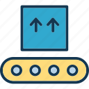 airport, conveyor, luggage, package icon