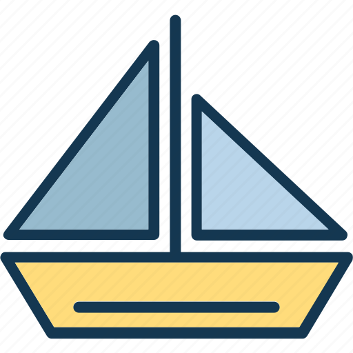 boat, journey, sail, sailboat icon