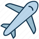airplane, jet, passenger plane, plane icon