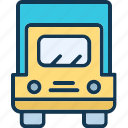 convoy, delivery truck, logistic, shipping icon