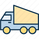 delivery, delivery van, sedan delivery, transport icon