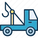 crane, lifter, luggage lifter, tow icon