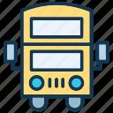 bus, double bus, double decker, public transport icon