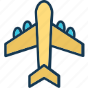 aeroplane, airbus, airliner, airplane icon