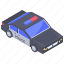 automobile, conveyance, cop car, police car, transport, vehicle icon