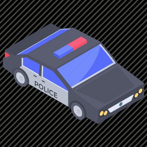 automobile, conveyance, cop car, police car, transport, vehicle icon