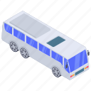 automobile, bus, conveyance, local bus, passenger local transport, transport, vehicle icon