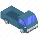automobile, conveyance, lorry, pickup truck, transport, vehicle, wagon icon