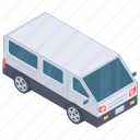 automobile, conveyance, mini bus, mini coach, transport, vehicle, wagon icon