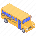 automobile, conveyance, mini bus, school bus, student bus, transport, vehicle icon