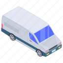 automobile, cargo van, conveyance, mini coach, transport, vehicle icon