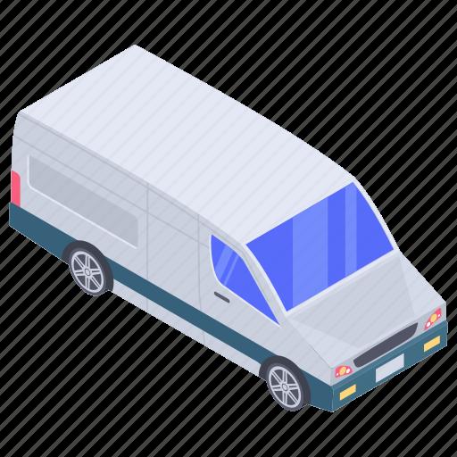 automobile, cargo van, conveyance, mini coach, transport, vehicle icon