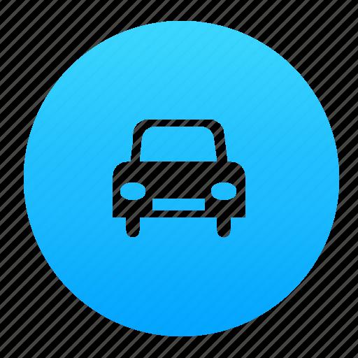 auto, automobile, blue, car, vehicle icon