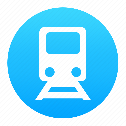 blue, metro, subway, train, tram, transport icon