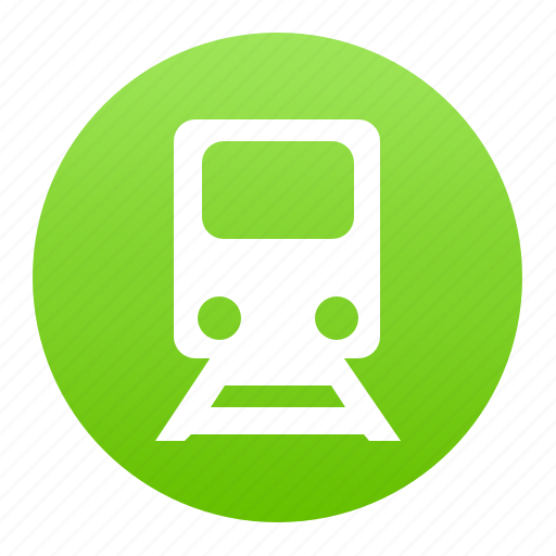 green, metro, subway, train, tram, transport icon