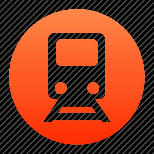 metro, railway, red, subway, train, tram, transport icon