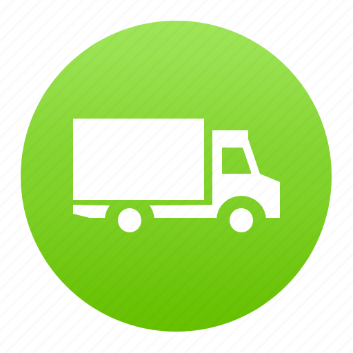 delivery, green, logistics, lorry, truck, van icon