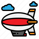 aircraft, flying, hydrogen, transport, zeppelin icon
