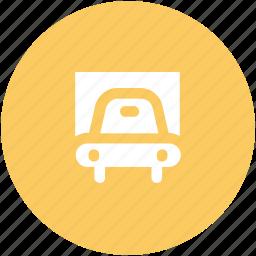 auto, automobile, car, car garage, garage, sedan, transport, vehicle icon