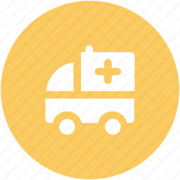 ambulance, ambulance van, clinic van, emergency, hosptial van, medicle van, transport icon
