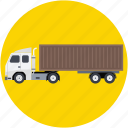 cargo truck, commercial delivery, lorry, semi truck, transport icon