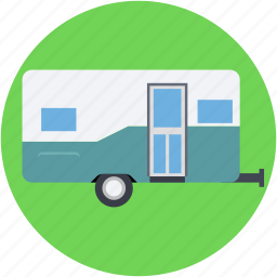 caravan, convoy, living van, living vehicle, transport icon