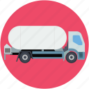 delivery transport, fuel tank, fuel truck, tanker, water tank icon