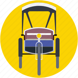cycle rickshaw, rickshaw, transport, travel icon