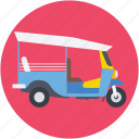 autorickshaw, rickshaw, transport, travel icon