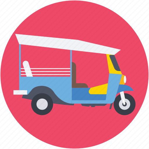 autorickshaw, rickshaw, transport, travel icon
