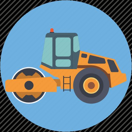 bulldozer, cat bulldozer, crawler, excavator, heavy machinery icon