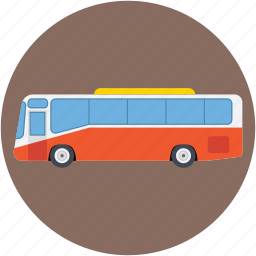 coach, omnibus, tour bus, transport, vehicle icon