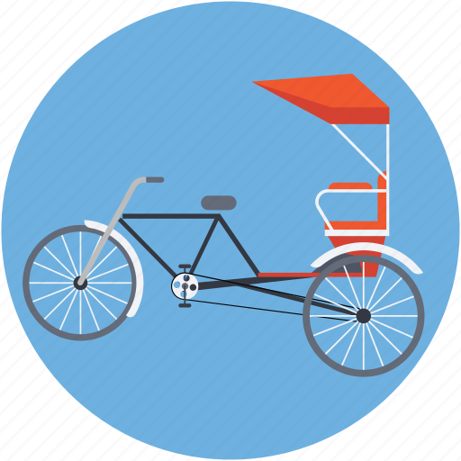 cycle rickshaw, rickshaw, transport, travel icon