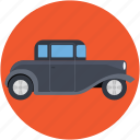 automobile, retro car, transport, vehicle, vintage car icon