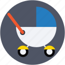 baby buggy, baby stroller, baby transport, sleeping stroller, stroller icon