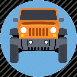 jalopy, jeep, suv, travel, vehicle icon