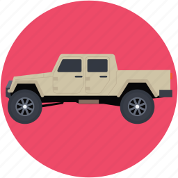 automobile, delivery vehicle, pickup car, pickup truck, transport icon