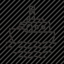 boat, cruise, sea, ship, vessel icon