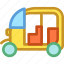 auto rickshaw, rickshaw, transport, travel icon