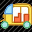 auto rickshaw, rickshaw, transport, travel icon
