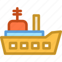 battleship, military ship, naval ship, navy ship, warship icon