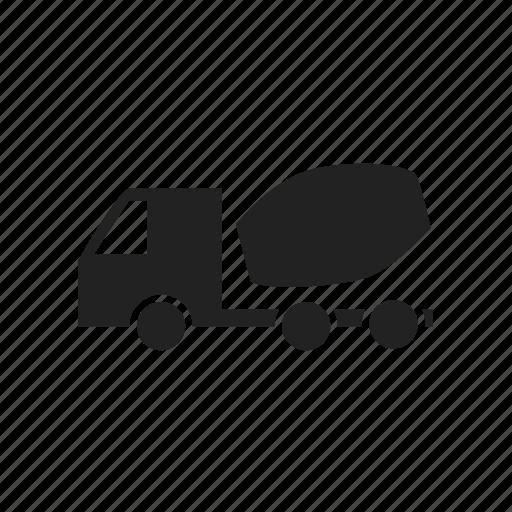 Concrete, truck, transport icon
