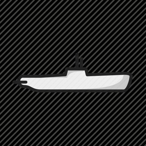 boat, sea, ship, submarine icon