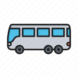 autobus, bus, transport icon