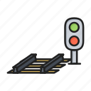 lights, railway, semaphore, traffic icon