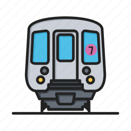 metro, railway, sign, subway, train, transport icon