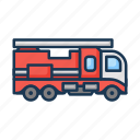 fire, fire engine, fire transport, fire truck, firefighting, truck icon