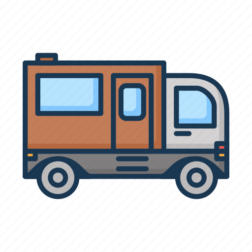 cargo truck, delivery, delivery truck, freight, hatchback, logistic icon