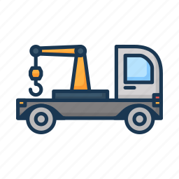 lifter, luggage lifter, tow, tow truck, transport, truck icon