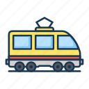 railroad, train, tram icon
